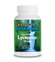 Lycopene 15 mg - (LYCO-O-MATO - From Natural Tomato Extract)