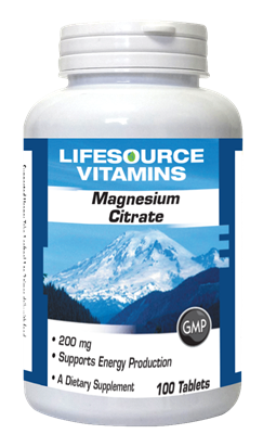 Magnesium Citrate 200 mg- 100 Tablets