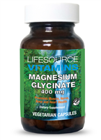 Magnesium Glycinate 400 mg - 180 Veg Capsules NEW LARGER/VALUE SIZE