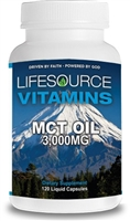 MCT Oil 3,000mg -120 Liquid Capsules