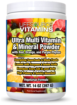 Multivitamin & Mineral Ultra Powder with Phyto Reds, Phyto Oranges, Phyto Purples & Phyto Blues