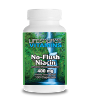 Niacin - (No flush) 400 mg - Vitamin B3 - 100 Capsules