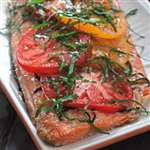 Grilled Salmon with Tomatoes and Basil - Recipes
