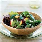 Mixed Greens and Nectarine Salad with Walnut Oil Vinaigrette - Recipes