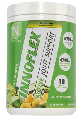 NutraKey Innoflex -High-Potency Joint Complex-  Lemon Lime -402 Grams