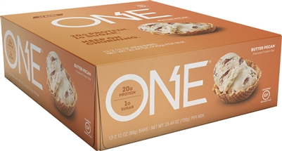 ONE - Butter Pecan- Case 12 - 2.12 oz bars