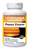 Papaya Enzymes with Bromelain - 180 Chewable Vegan Tablets