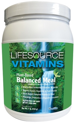 Plant-Based Balanced Meal Replacements - A Complete Nutritional Shake - Vanilla - 1 lb