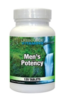 Men's Potency - 120 Tabs - Proprietary Formula NEW LARGER / VALUE SIZE