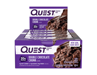 QuestBar - Double Chocolate Chunk case of 12 - 2.12 oz Bars