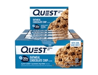 QuestBar - Oatmeal Chocolate Chip case of 12 - 2.1 oz Bars