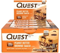 Quest - Peanut Butter Brownie Smash - Case of 12 - 2.12 oz Bars