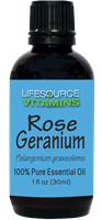 Rose Geranium 1 fl oz-  LifeSource Essential Oils
