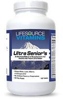 Senior's Ultra Multivitamins - 180 Tabs - Men & Women - 2 Month Supply