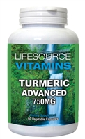 Turmeric Advanced -750mg - 60 Vegetable Capsules -  With BioPereine