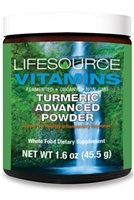 Turmeric Advanced Powder -1000 mg - 1.6 oz-  With Organic Black Pepper (Fruit)
