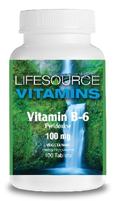 Vitamin B-6  100mg - 100 Tablets