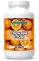 Vitamin C 500 mg - 100 Chewable Tablets - Orange
