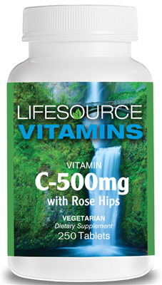 Vitamin C 500 mg with Rose Hips  250 Tabs VALUE SIZE