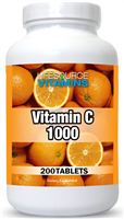Vitamin C 1000 mg 200 Tabs VALUE SIZE