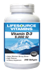 Vitamin D-3 5000 IU 240 Softgels- NEW LARGER / VALUE SIZE