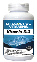 Vitamin D-3 25 mcg (1,000 IU) - NEW RELEASE/VALUE SIZE 360 Softgels