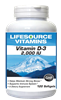 Vitamin D-3 50 mcg (2,000 IU) - 120 Softgels