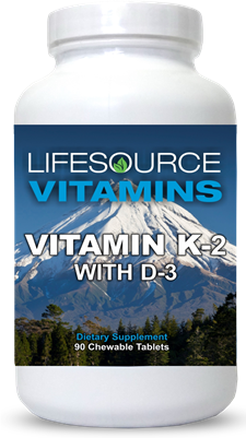 Vitamin K2 with D3 - 90 Chewable Tablets