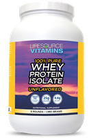 Whey Protein ISOLATE - Grass Fed - 100% Pure Unflavored  -  3 lbs.