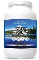 Whey Protein ISOLATE - Grass Fed - Double Chocolate Fudge 6 lbs.