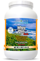Whey Plus w/ Phyto Greens & Phyto Reds Powder - ORGANIC - 4 lbs.