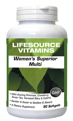 Women's Superior Multivitamins & Minerals 90 Softgels - Late 30's through 50's