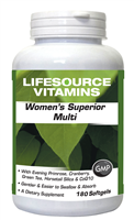 Women's Superior Multivitamins & Minerals 180 Softgels - Late 30's through 50's VALUE SIZE