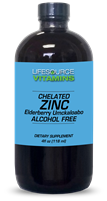 Zinc (Chelated) - Elderberry, Umckaloabo & Echinacea Liquid - 4 fl oz.