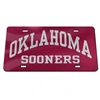 Oklahoma Sooners Mirrored Licence Plate - Oklahoma Sooners Arched