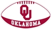 Oklahoma Large Football Magnet