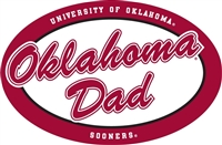 "Oklahoma Dad 6"" Oval Vinyl Decal"