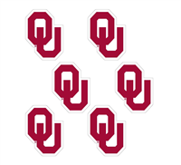 Oklahoma OU Vinyl Decal Crimson