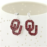 Oklahoma Sooners Rhinestone Earrings