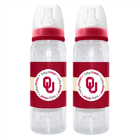 Oklahoma Sooner Baby Bottles 2 Pack