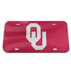 Oklahoma Sooners License Plate Mirrored  with Silver OU