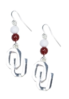 Oklahoma Sooners Dangle Beads Earrings