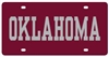 Oklahoma Sooners - Oklahoma Mirrored License Plate Crimson / Silver