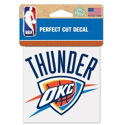 4x4 Oklahoma City Thunder Colored Decal