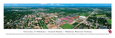 Oklahoma Sooner's Gaylord Memorial Stadium Panoramic Unframed