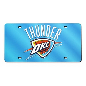 OKLAHOMA CITY THUNDER MIRRORED LICENCE PLATE BLUE