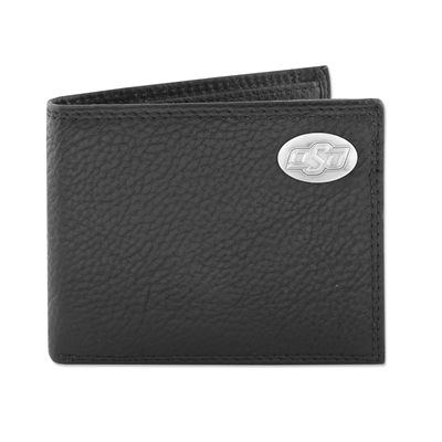 Oklahoma State Black Pebble Wallet w/Case