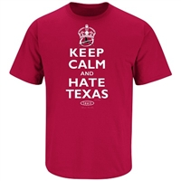 "Oklahoma Sooners ""Keep Calm - Hate Texas"" Red River Rivalry T-Shirt"