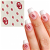 Oklahoma Sooners Waterless Fingernail and Face Tattoos