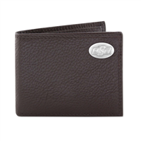 Oklahoma State Brown Pebble Wallet w/Case